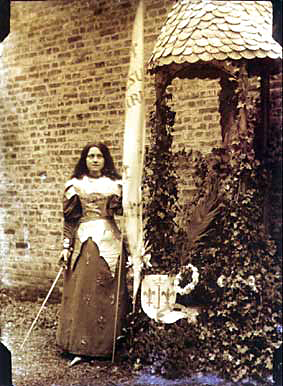 St. Therese dressed as St. Joan of Arc