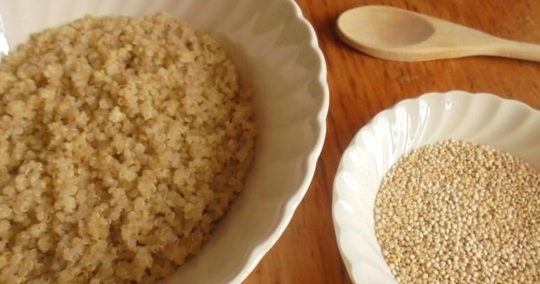 Como preparar quinoa.  Cantidades y tiempo de cocción.