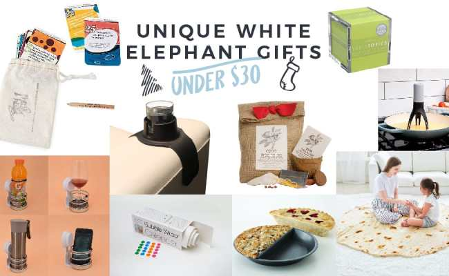 Unique White Elephant Gifts Under 30 The Maids Blog