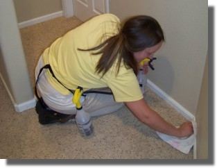Maid to Shine House Cleaning baseboards