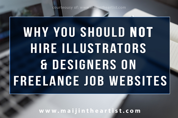 why you should not hire illustrators and designers on freelance job websites