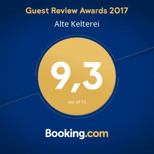 offizielle Auszeichnung von Booking.com - Guest Review Award 2017