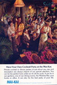 Have your own cocktail party at the Mai-Kai.