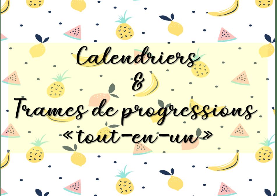 Calendrier Pour La Classe.2019 2020 Des Calendriers Et Des Trames De Progressions