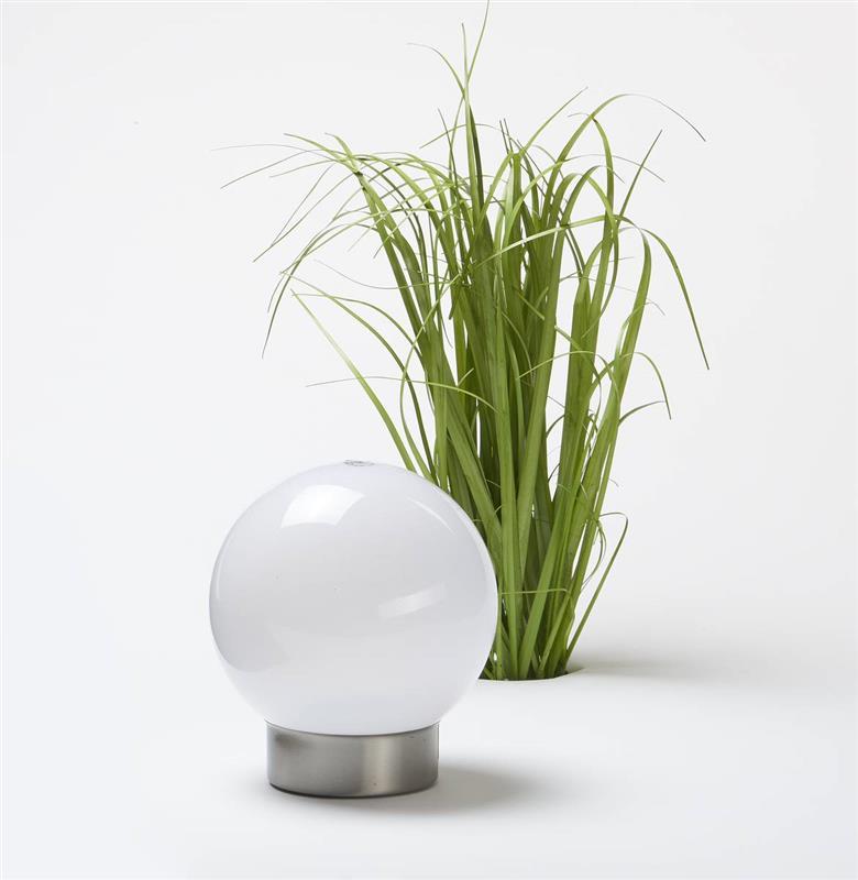 Wetelux Solar Kugel mit weißer und Farbwechsel LED 20cm