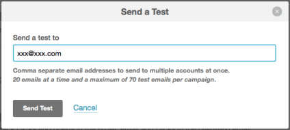 List for test email - MailChimp