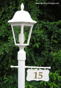 Personalized Lamp Post Address Number Sign or Cast Hanging