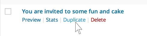 Duplicate a Mailpoet campaign