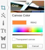 MailPoet button change canvas colour PicMonkey