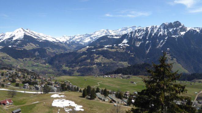 The landscape visible from the Plan Praz Via Ferrata.