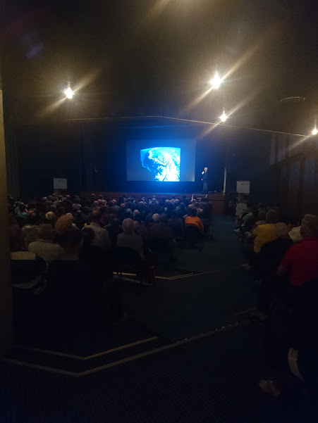 Claude Nicollier speaking at FIFAD