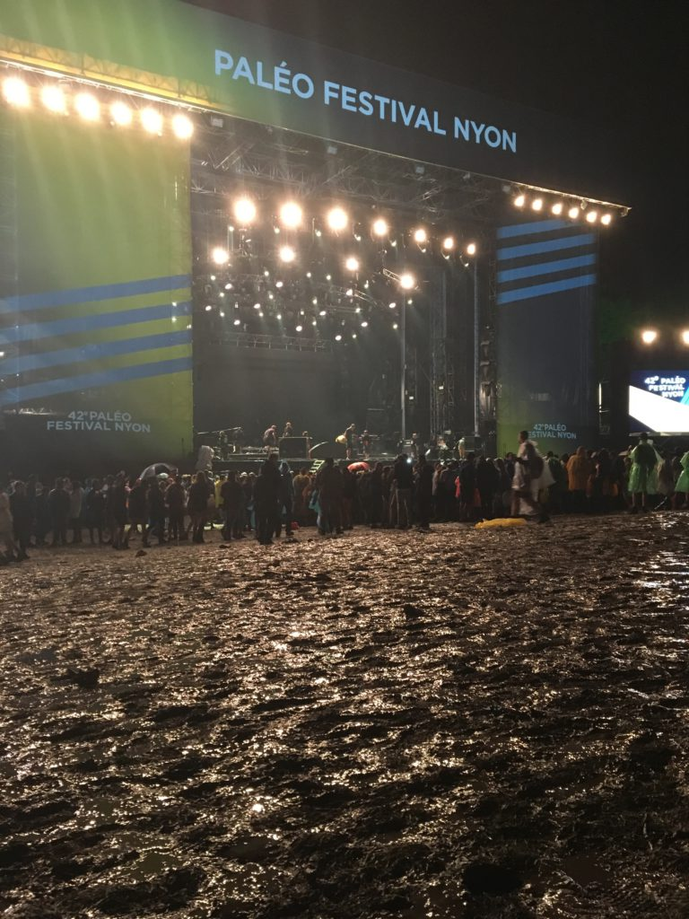The main stage when it's raining