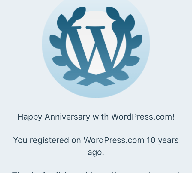 10 years of Wordpress