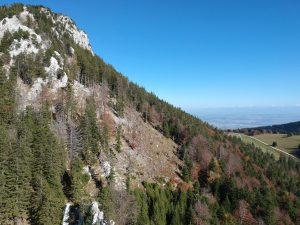 A few weeks ago we went climbing on a multipitch and I took the drone