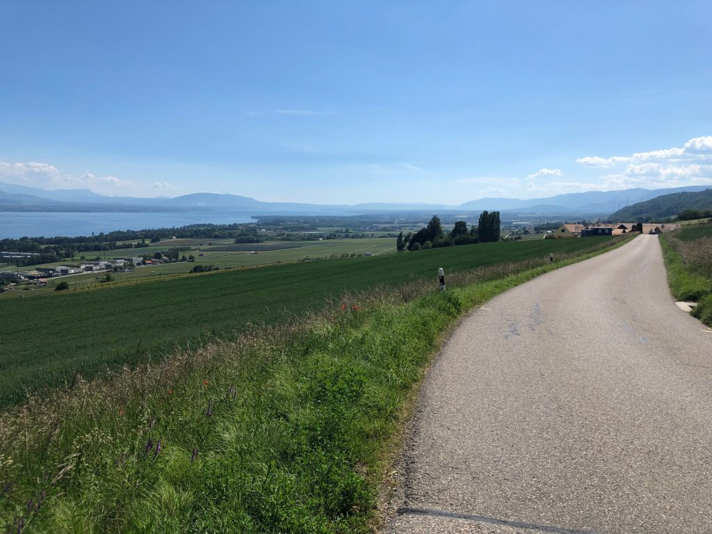 Looking towards Rolle and Geneva.
