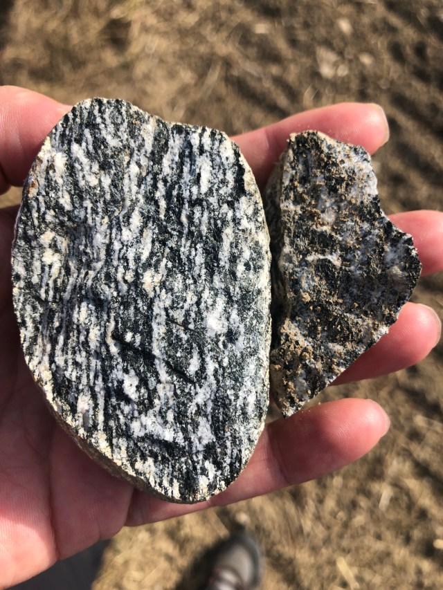 Plenty of broken stones