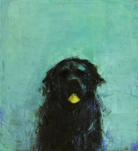 Kinkead_Early Riser (Black Dog with Ball)