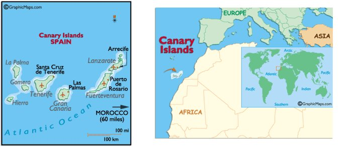 Islands Canary Map Tenerife World
