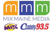 This is the logo for the mix maine media sponsor.