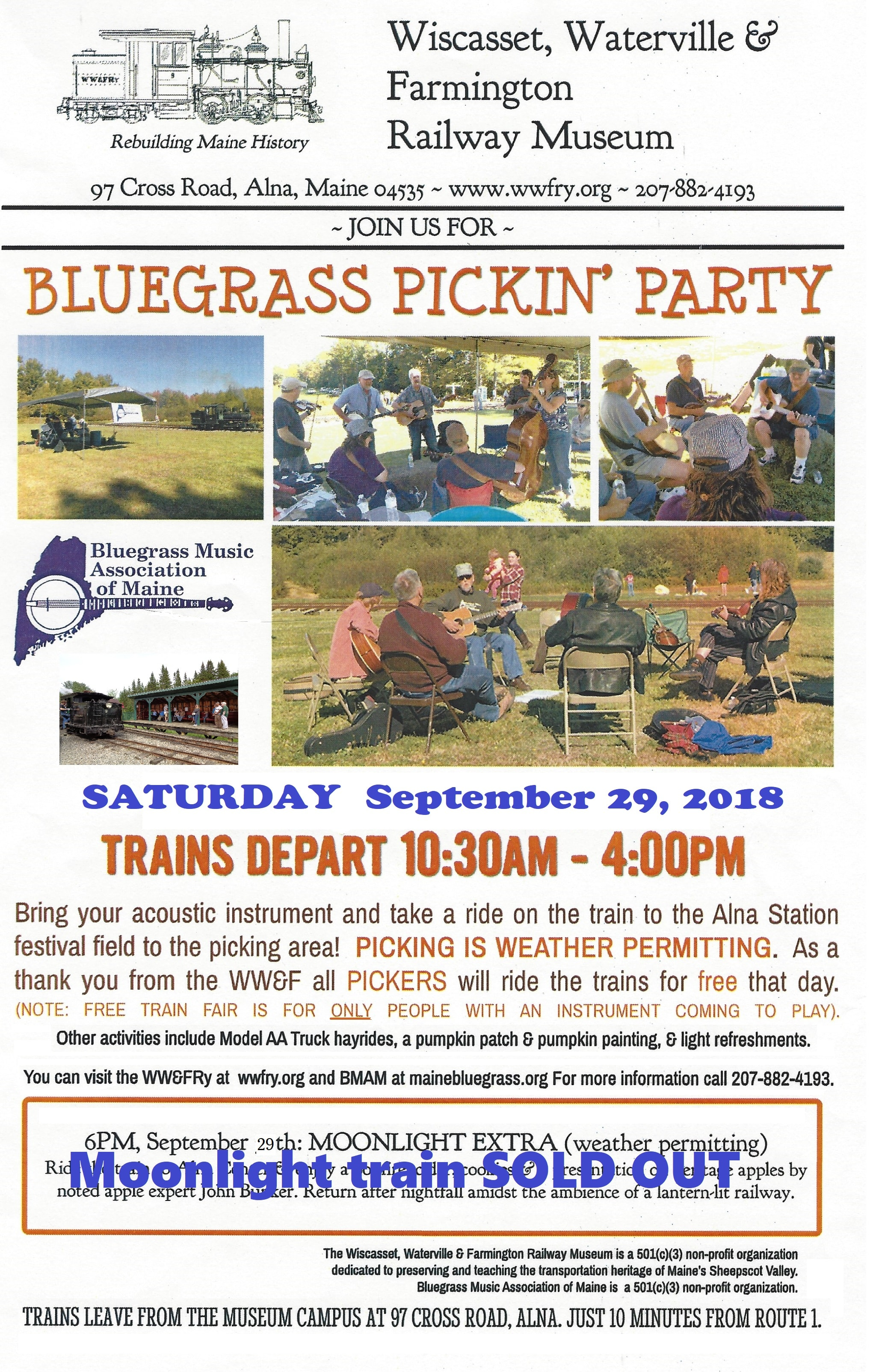 Pickin' Party at the WW&FRy Fall Festival   Bluegrass Music