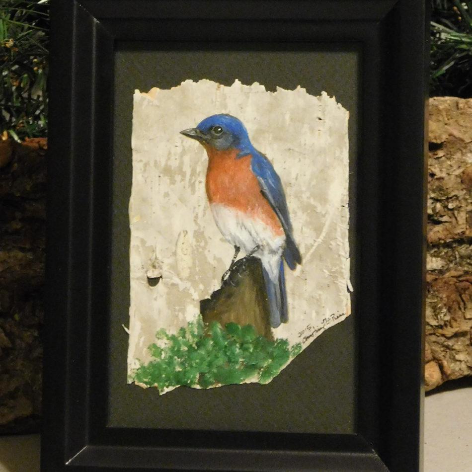 Blue Wolf DesignBirch Art Painting  Maine Made
