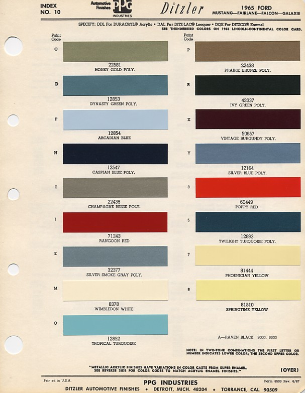 1963 ford f100 wiring diagram lower extremity venous system 1965 mustang color chart with paint mixing codes | maine