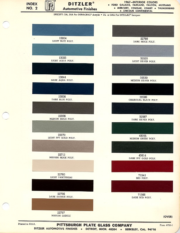 ford interior color code chart. Black Bedroom Furniture Sets. Home Design Ideas