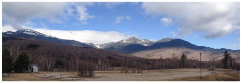 View of the Presidential Range from Rt. 16, just north of Pinkham Notch.