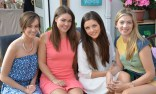 Two sets of sisters at Katie's Bridal Shower: Amber and Tara Galwey with Anita and . the guest of honour, Katie Nolan.