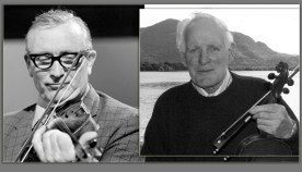 Sliabh Luachra Icons: The late Denis Murphy (left) and the late Paddy Cronin will be featured in two programmes each on The Rolling Wave on RTÉ Radio 1 on Sunday nights at 10pm and on Lyric FM at 7pm on Monday evenings. Photographs Courtesy of the RTÉ Stills Library.