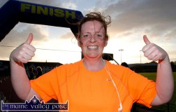 A delighted Margaret Murphy from Faha, Killarney after her first official Couch-to-5K Road Race/ Fun Run finish at An Riocht AC in Castleisland on Friday evening. ©Photograph: John Reidy