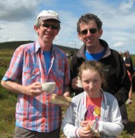 Brothers Ger and Noel O'Connell with Noel's daughter, Meabh, from Killarney at the Dan Paddy Andy Festival 2014