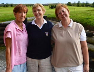 Catherine Horan (left) with: Marian O'Connor and Lelia Moloney at the Lady Presidents Prize day at Castleisland Golf Club on Sunday.