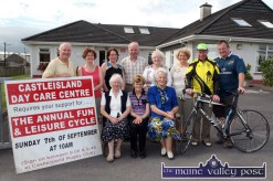 Members of the board of the Castleisland Day Care Centre pictured last week with Currow CC guests announcing details of their 2014 annual Fun and Leisure Cycle on Sunday, September 7th from 10am. Seated from left: Sr. Maureen Kane, Helen O'Connor and Monica Prendiville. Back row: Donal Nelligan, Maria McCarthy, Martina O'Donoghue, Brendan McCarthy, Maxi Fleming, Marcella Finn, Nurse/Manager and David Costello and John Breen, Currow CC. ©Photograph: John Reidy 22-7-2014