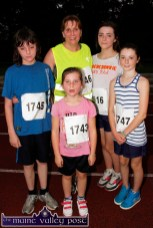 A Killarney group pictured after Friday evening's An Ríocht Couch-to-5K Road Race in Castleisland. Included are: JP and Anette Courtney, Lucy, Holly Barrett and Rebecca McGrath. ©Photograph: John Reidy.