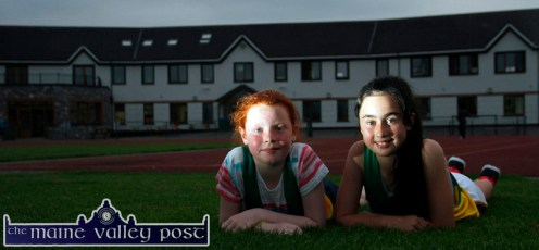 Munster B Athletics Championships Silver Medalists: An Ríocht Athletic Club athletes, Aoife Kerins and Jane Lawlor who both won Silder Medals at the meeting in Templemore. Aoife's was for the U-12 X 80 metres and jane's was for the U-12 Long Jump. ©Photograph: John Reidy
