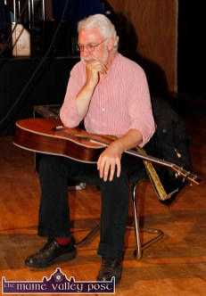 An attentive Paul de Grae pictured at the first of the Handed Down series of talks and concerts at Scartaglin Heritage Centre on Saturday night. ©Photograph: John Reidy
