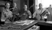 Members of the Sheila Prendiville's Bar & Grocery First Reunion Concert Band many of whom will be appearing in Scart on Saturday night. Included are from left: Mick Culloty, David Dauber Prendiville, PJ Teahan and Tom O'Connell. ©Photograph: John Reidy 7-8-2014