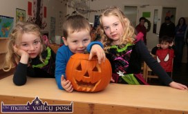 Sara, Jack and Olivia getting into the spirit of the occasion for the Cahereen Childcare Facility Halloween Party. ©Photograph: John Reidy