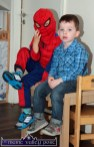 Oscar and Emmet taking a break from their tasks during the preparations for the Cahereen Childcare Facility Halloween Party. ©Photograph: John Reidy