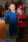 Joshua and Seán enjoying the preparations for the party at Cahereen Heights Childcare Facility. ©Photograph: John Reidy