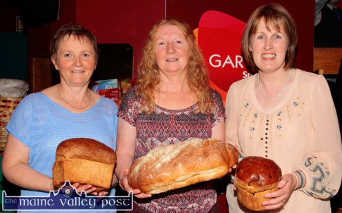 Garvey's SuperValu staff members, Beatrice Horan (left) Alice King and Noranne O'Connor at the Garvey's SuperValu / Castleisland Rugby Club Bake-Off at the River Island Hotel. ©Photograph: John Reidy