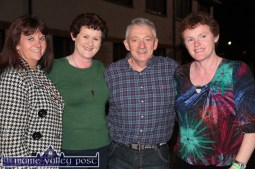 Caroline Lane (left) pictured with Marie and James O'Leary, Cordal and Margaret Finnerty, Roscommon at the HercOileán After Party at An Riocht AC on Saturday night. ©Photograph: John Reidy