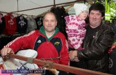 Matthew McMahon, Listowel (left) pictured with: Tracy Sheehy and her dad, Christy from Duagh at Castleisland's annual November 1st Horse Fair on Saturday. ©Photograph: John Reidy