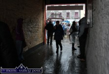 The Poorhouse Arch was both a gateway to an off Main Street stalls village and a source of shelter during Castleisland's annual November 1st Horse Fair on Saturday. ©Photograph: John Reidy