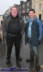 John Paul, Fitzgerald, Knocknagoshel (left) and James O'Connor, Scartaglin pictured at Castleisland's annual November 1st Horse Fair on Saturday. ©Photograph: John Reidy