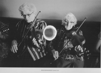 An undated but wonderful photo of Julia Clifford and her sister Bridgie Kelleher in Knocknagree by Jill Freedman.