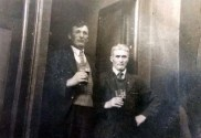 At Peter O's Bar Gneeveguila. Denis Murphy (left) and Mickeen Daly photo courtesy of New York resident, Kathleen Fitzgerald who is a niece of the late Denis Murphy.