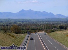The vista which greets motorists when they clear the Mullaghmarkey Fly-over on the N21 Castleisland By-pass. ©Photograph: John Reidy