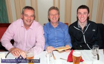 Rock Street / Caherslee Community Games Committee members from left: John Flynn with Eamonn and Cathal O'Reilly at the Kerry Community Games Awards dinner at the River Island Hotel, Castleisland on Friday night. ©Photograph: John Reidy